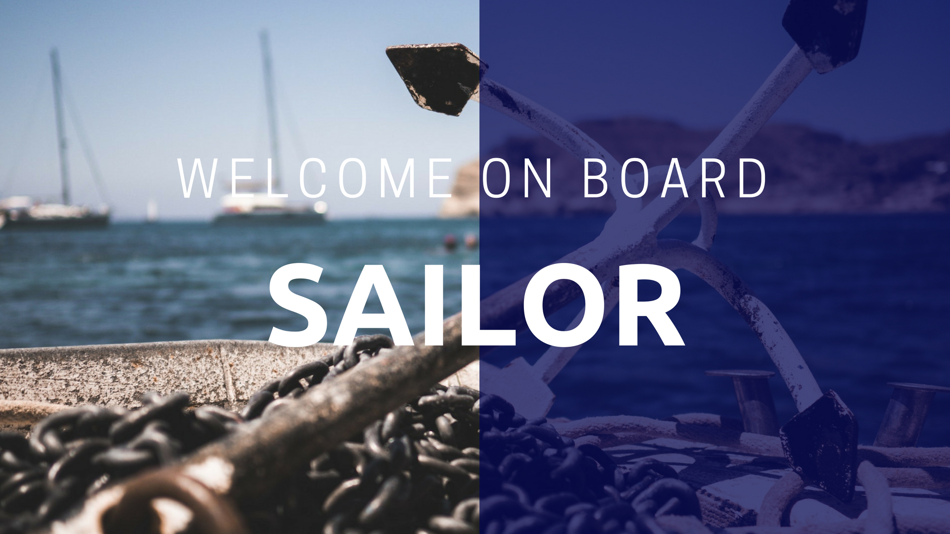 Welcome on board sailor photo